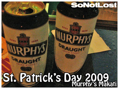 two cans of Murphy's Draught