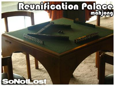 mahjong game (Reunification Palace)