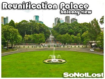 balcony view (Reunification Palace)