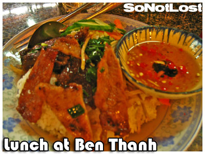 lunch at Ben Thanh Market