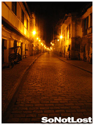 Calle Crisologo at Night - Click to View Hi-Res Image