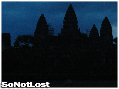 Angkor Wat, before sunrise
