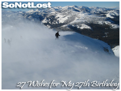 27 Wishes for My 27th Birthday