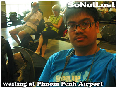 waiting at Phnom Penh Airport