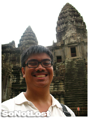 Ren Robles at Angkor Wat
