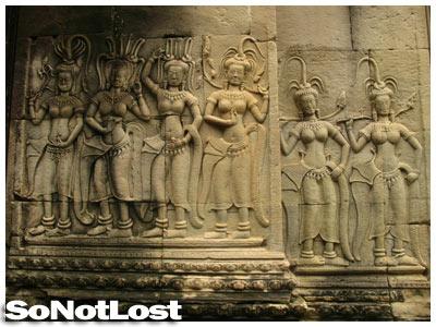 bas-reliefs at Angkor Wat