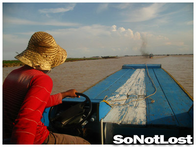 my boat driver on Tonle Sap