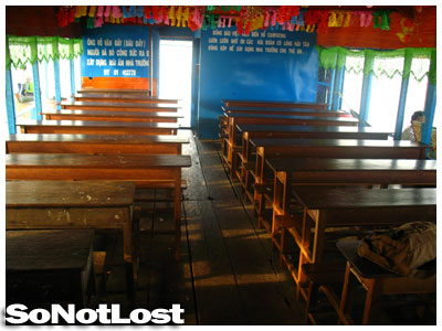 a school on Tonle Sap