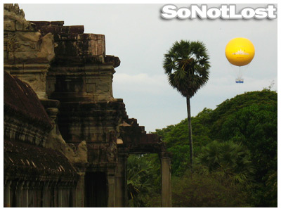 Hot Air Balloon over Angkor Wat (Cambodia) - Click to View Hi-Res Image