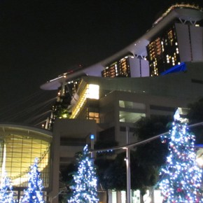 TravelTuesday Picture of the Week: Marina Bay Sands Christmas Trees (Singapore)